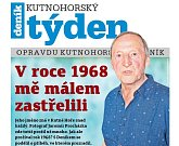 Titulní strana třicátého čtvrtého čísla týdeníku Kutnohorský týden.
