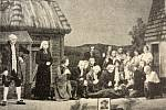 Ztvárnění divadelní hry Jiřího Mahena Mrtvé moře při oslavách stého výročí čáslavského ochotnického spolku.