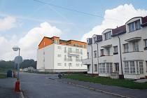 Vizualizace domu s malometrážními byty v ulici Do Polí v Kutné Hoře.