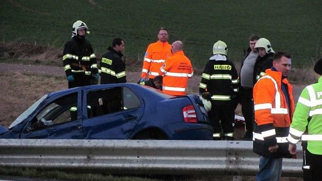 Tragická dopravní nehoda na čáslavském obchvatu v lokalitě Kalabousek