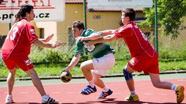 Z utkání házené K. Hora - Libčice n. V. 18:18, neděle 17. května 2009