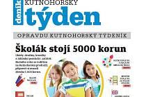 Titulní strana třicátého pátého čísla týdeníku Kutnohorský týden.