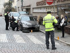 Nehoda v Kutné Hoře na křižovatce ulic Havířská a Tylova.