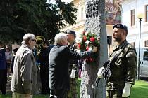 Den vítězství si Čáslavané připomněli v parčíku u gymnázia.