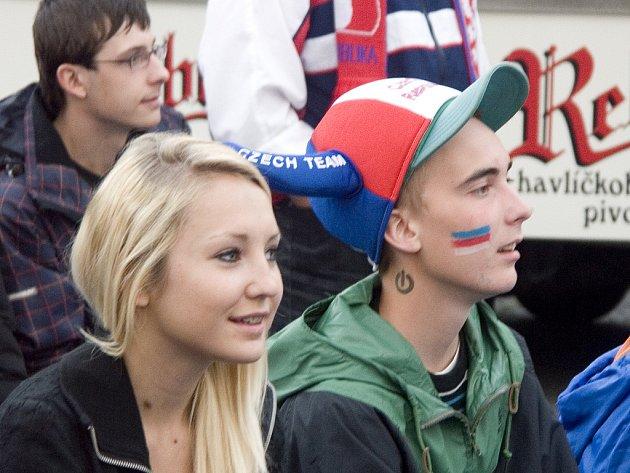 Čáslavské náměstí s fotbalem. 8.6.2012