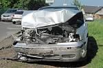 Dopravní nehoda u Hlízova, na odbočce ze silnice I/38.