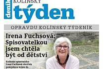 Titulní strana dvacátého osmého čísla týdeníku Kolínský týden.