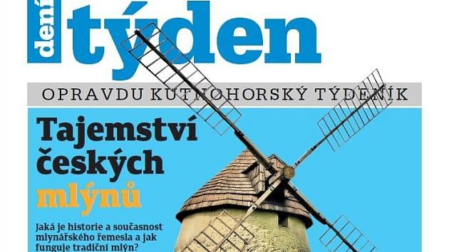 Titulní strana třicátého druhého čísla týdeníku Kutnohorský týden.