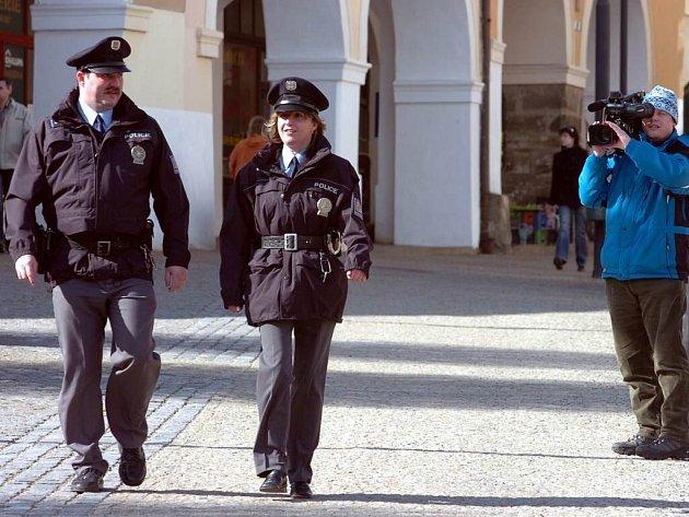 Natáčení náborového klipu pro policii - ilustrační foto.