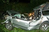 Tragická dopravní nehoda mezi Golčovým Jeníkovem a Horkami.