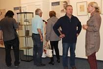 Výstava Kliment Čermák a ti druzí byla zahájena v čáslavské výstavní síni