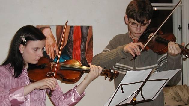 Vystoupení žáků Základní umělecké školy.