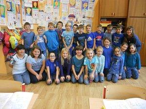 Na základní škole T. G. Masaryka měli modrý den
