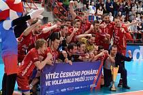 Finále final four Českého poháru ve volejbalu mezi Českými Budějovicemi a Kladnem v Kutné Hoře.