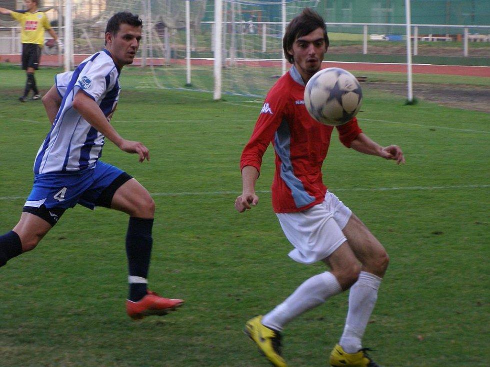Z fotbalového utkání I.A třídy Čáslav B - Bohemia Poděbrady (2:0)