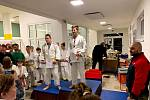 Ze závěrečného kola 32. ročníku judistické Polabské ligy v Kolíně.
