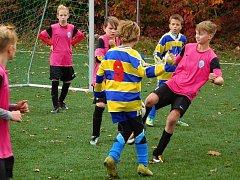 Z turnaje meziokresních fotbalových výběrů kategorií U11 a U12 v Poděbradech.