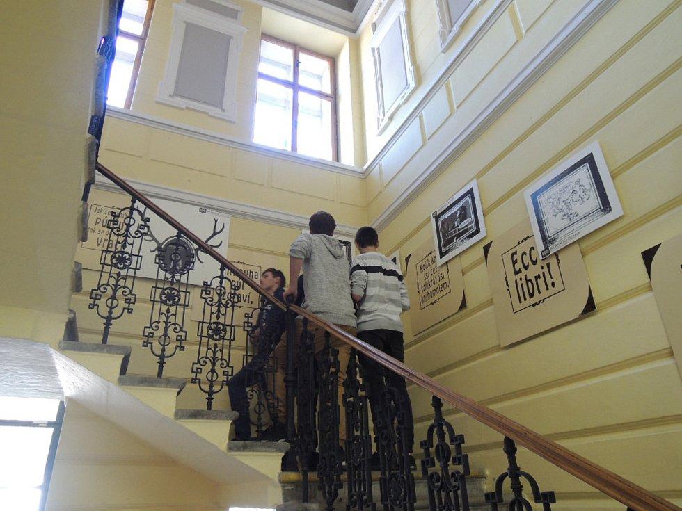 V kutnohorské knihovně zahájili výstavu černého humoru.