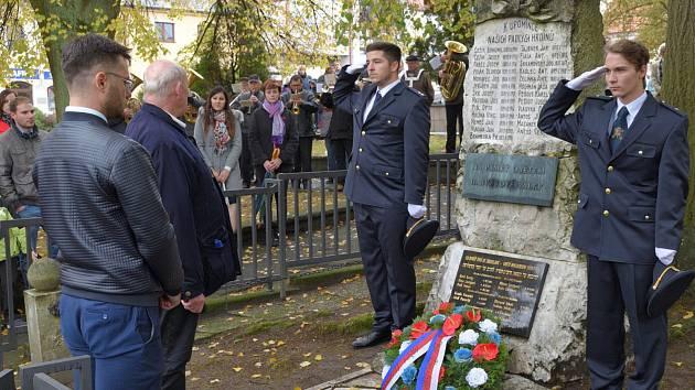 Oslavy stého výročí Československa oslavili ve Zbraslavicích.