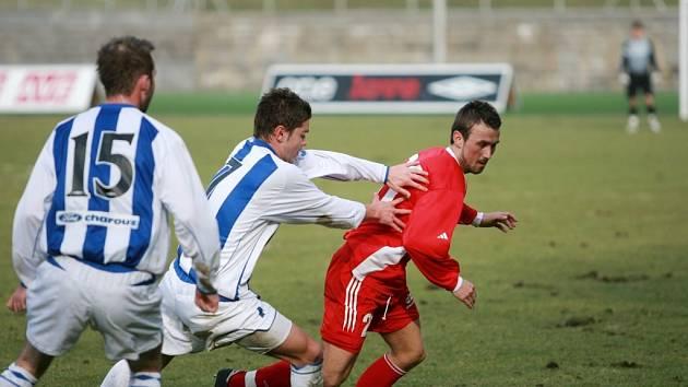 Z utkání druhé fotbalové ligy Čáslav - Vítkovice (0:1).