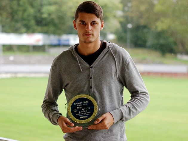 Milan Antoš - Fotbalový talent Kutnohorska v kategorii dorost.