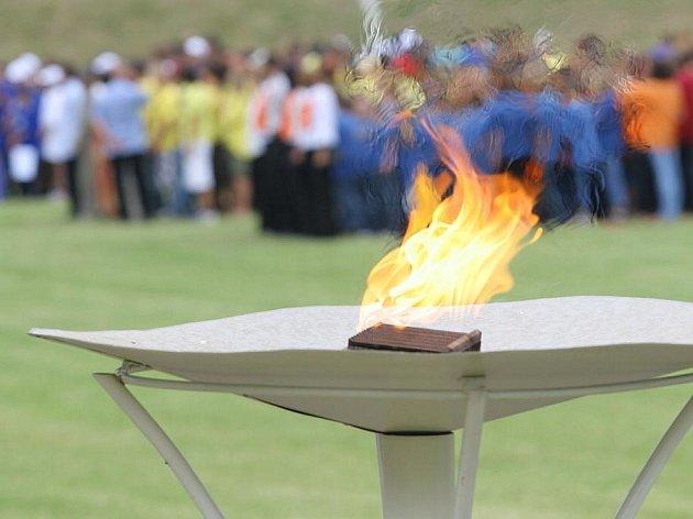 Olympijský oheň v Kutné Hoře.