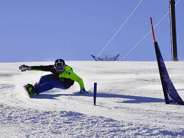 Snowboardista Aleš Urban.