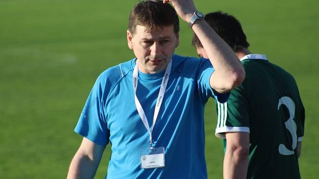 Trenér FC Bílé Podolí Bohuslav Šváb.