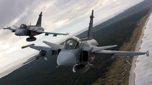 JAS-39 nad Baltem.
