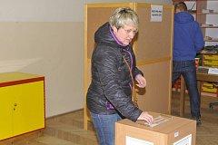 Druhé kolo prezidentských voleb 2018 v sobotu 27. ledna, Uhlířské Janovice.