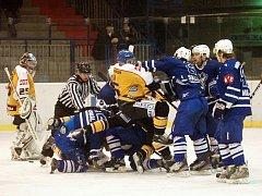 33. kolo II. ligy: Kutná Hora vs. Kolín 2:3, 4. ledna 2012.