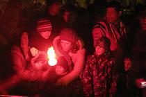 Ohňostroj na Palackého náměstí v Kutné Hoře 1. ledna 2013