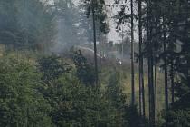 Požár u Vlastějovic - 10. srpna