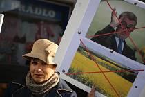 Z petiční akce za odstoupení premiéra Andreje Babiše a ministryně spravedlnosti Marie Benešové. Ilustrační foto.