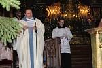 Půlnoční mše v kostele sv. Jakuba v Kutné Hoře.