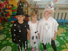 Projektový den Ať žijí duchové v Mateřské škole 17. listopadu v Kutné Hoře.