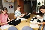 Zájmový kroužek psaní na stroji v Domě dětí a mládeže v Čáslavi.