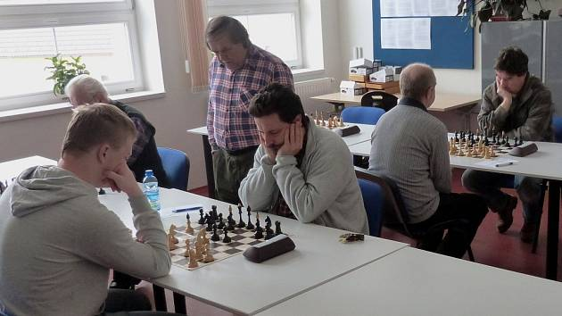 Šachová herna ve Zruči nad Sázavou.