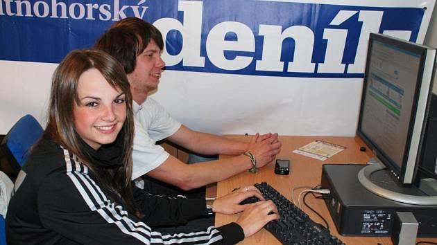 Alžběta Sosnovcová a Luděk Veselý z kapely Alžbětiny sosny.