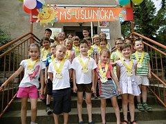Rozloučení s předškolními dětmi v Mateřské škole 'U Sluníčka' v Kutné Hoře.