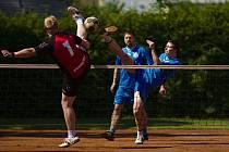 Nohejbalové utkání Vrdy - Nymburk.