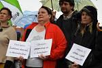 Z demonstrace s názvem Máme toho dost! na náměstí Jana Žižky z Trocnova v Čáslavi.