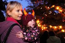 Rozsvícení vánočního stromu v Čáslavi