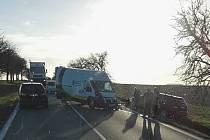 Dopravní nehoda u Církvice.