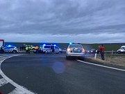 Dopravní nehoda na čáslavském obchvatu.