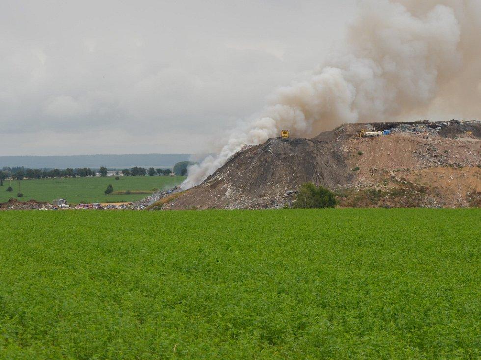 Požár čáslavské skládky