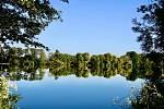 Rybník Medenice se nachází mezi vesnicemi Lomeček a  Paběnice.