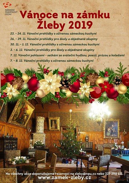 Vánoce na zámku Žleby.