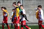 Fotbalový přípravný zápas, mladší žáci, kategorie U13: FK Čáslav - TJ Sokol Družba Suchdol 3:3 (0:1, 2:0, 1:2).