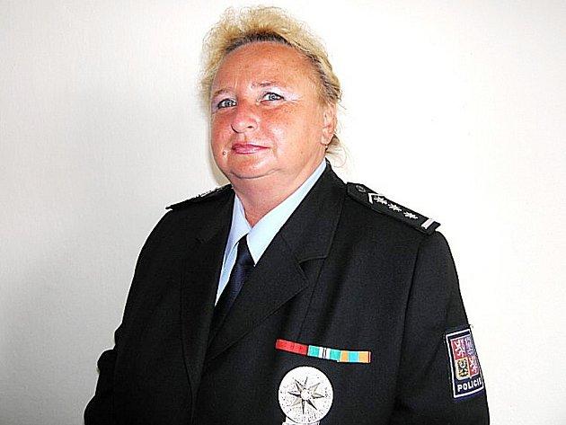 Okresní policejní ředitelka Blanka Matějů.